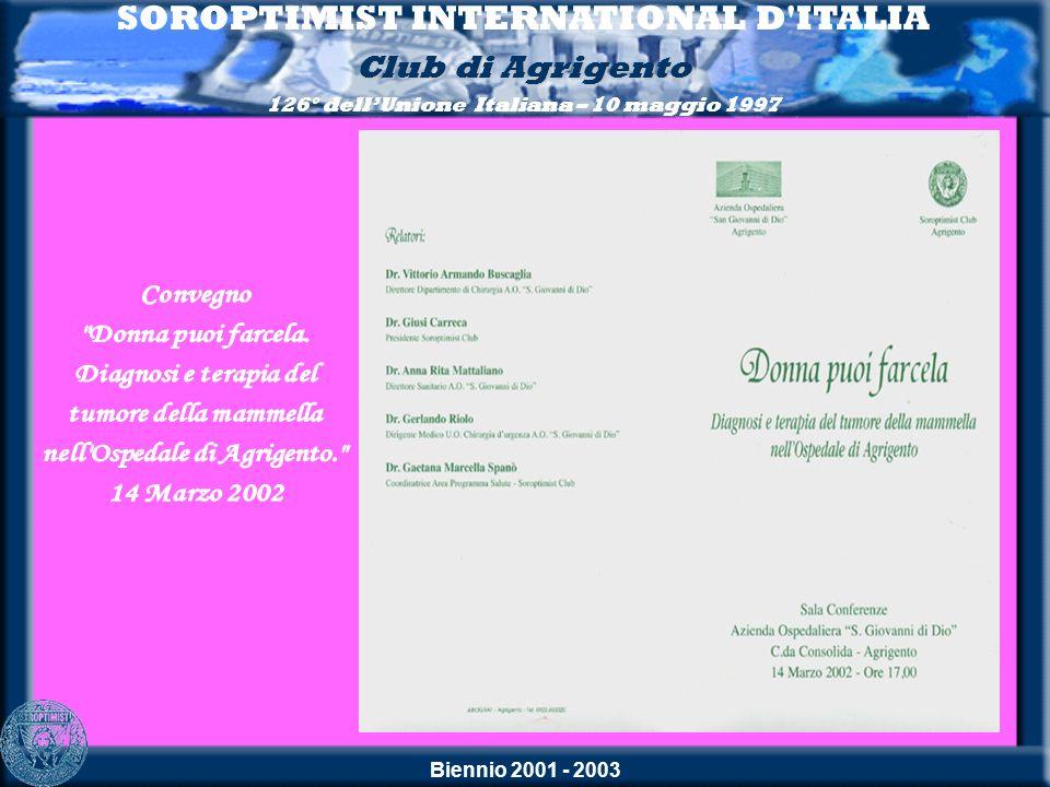 SOROPTIMIST INTERNATIONAL D ITALIA nell Ospedale di Agrigento.