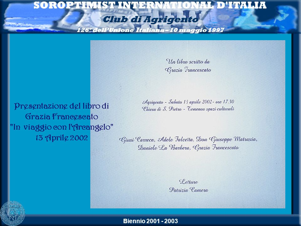 SOROPTIMIST INTERNATIONAL D ITALIA