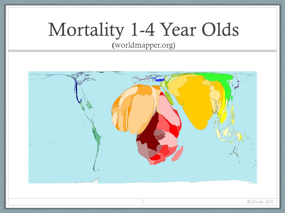 Mortality 1-4 Year Olds (worldmapper.org)