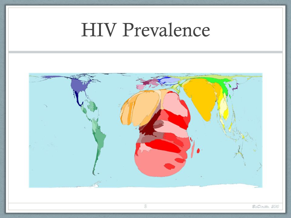HIV PrevalenceIn 2003, the highest HIV prevalence was Swaziland, where 38%, or almost 4 in every 10 people aged 15 to 49 years, were HIV positive.