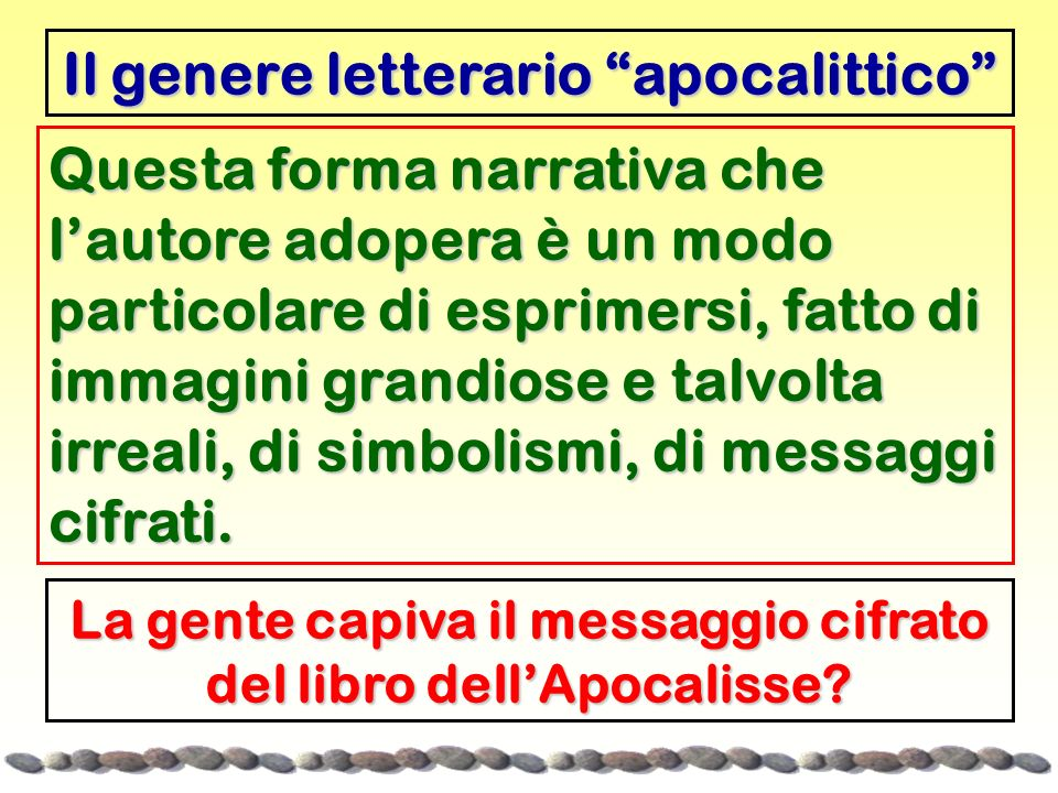 Il genere letterario apocalittico