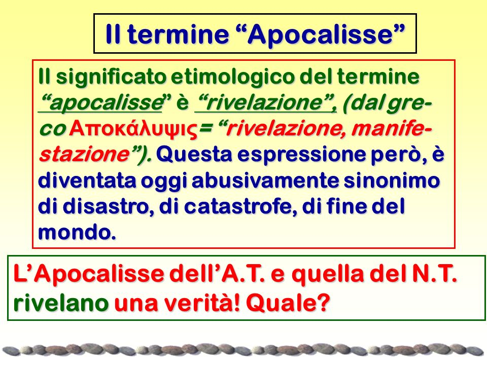 Il termine Apocalisse