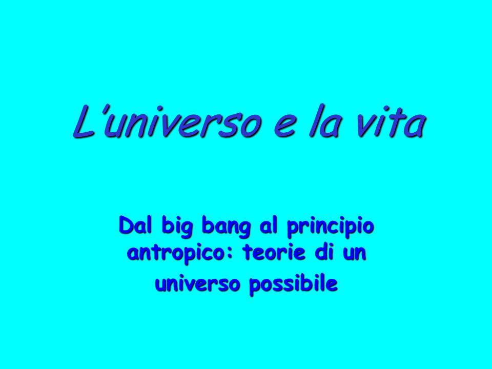 Dal big bang al principio antropico: teorie di un universo possibile