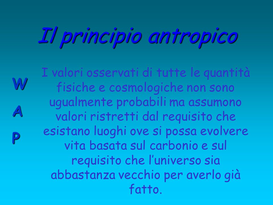 Il principio antropico