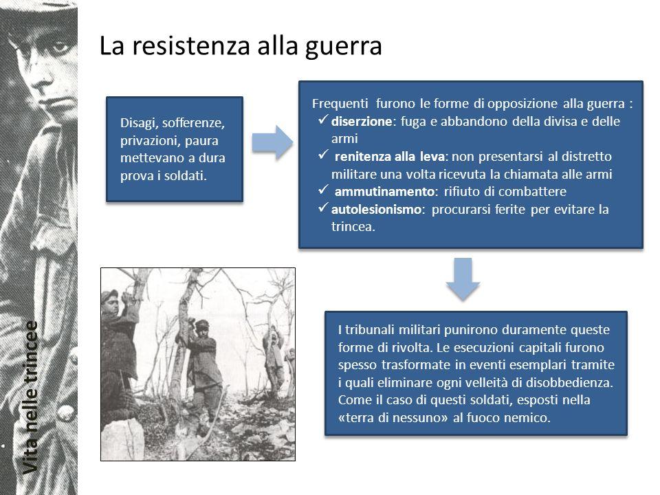 La resistenza alla guerra