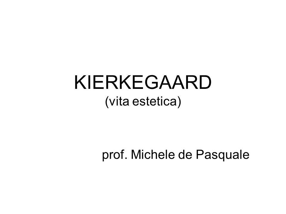 KIERKEGAARD (vita estetica)