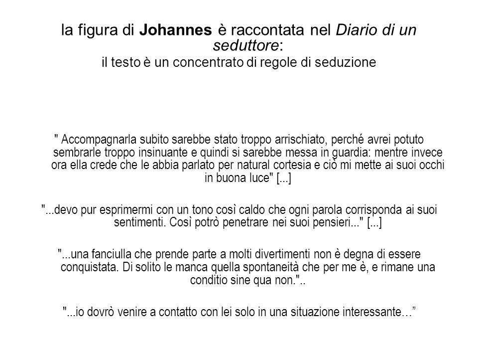 la figura di Johannes è raccontata nel Diario di un seduttore:
