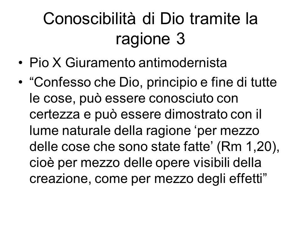 Conoscibilità di Dio tramite la ragione 3