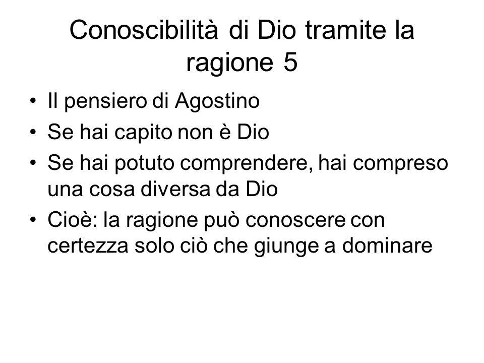 Conoscibilità di Dio tramite la ragione 5