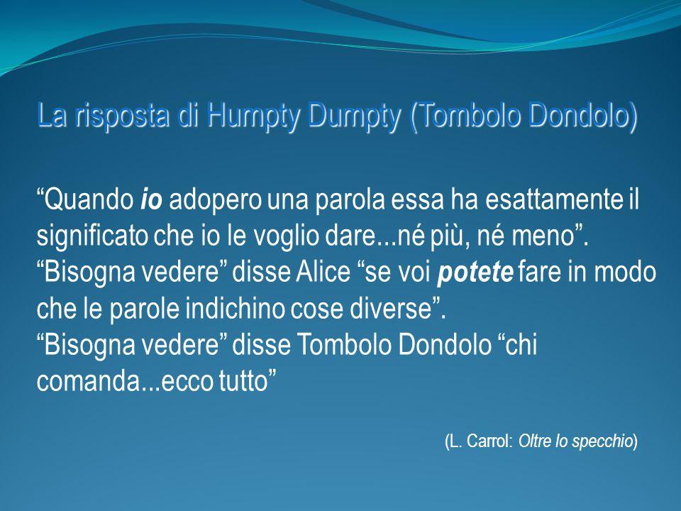 La risposta di Humpty Dumpty (Tombolo Dondolo)
