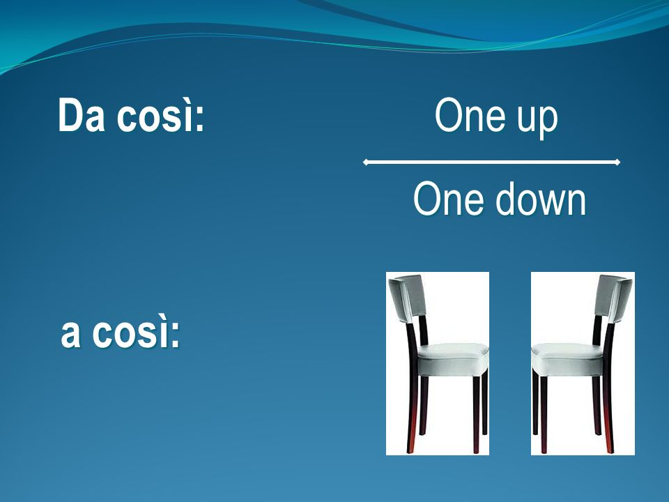 Da così: One up One down a così: 1