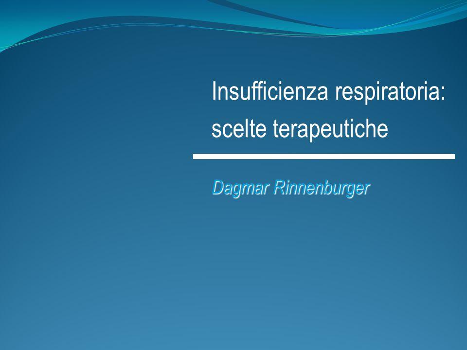 Insufficienza respiratoria: scelte terapeutiche