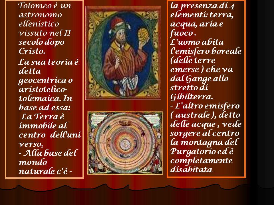Tolomeo è un astronomo ellenistico vissuto nel II secolo dopo Cristo