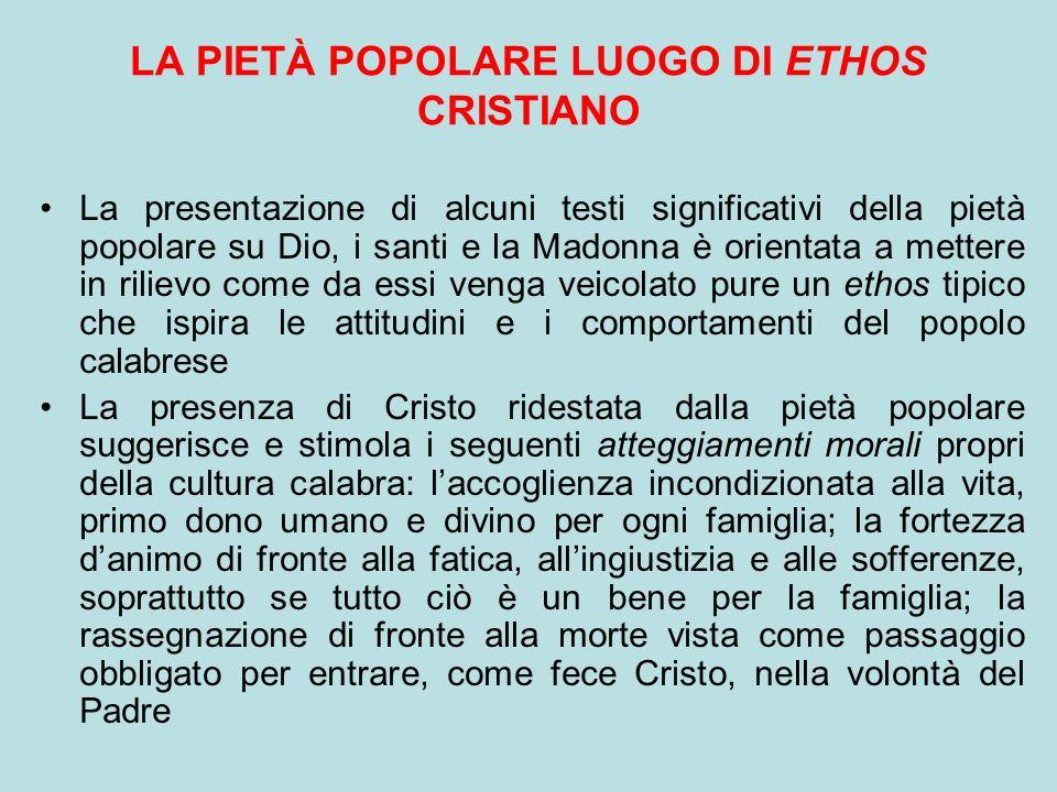 LA PIETÀ POPOLARE LUOGO DI ETHOS CRISTIANO