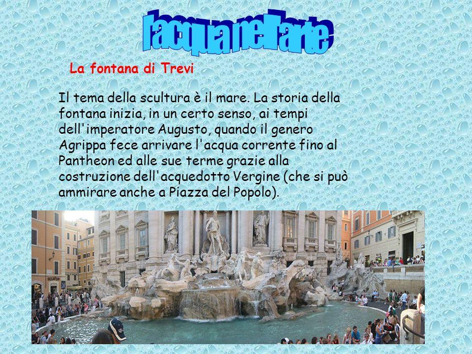 l acqua nell arte La fontana di Trevi