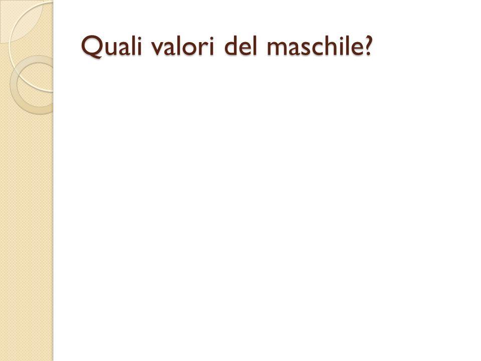Quali valori del maschile