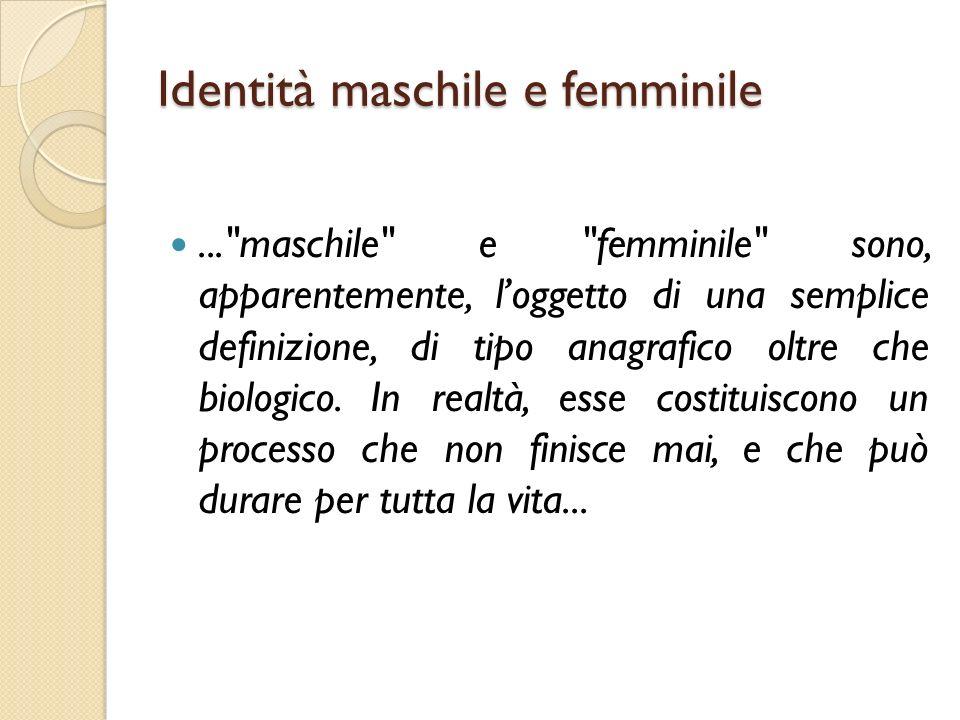 Identità maschile e femminile