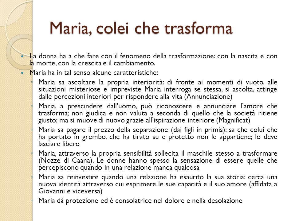 Maria, colei che trasforma