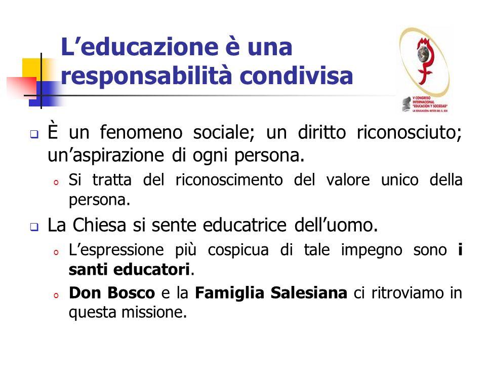 L'educazione è una responsabilità condivisa