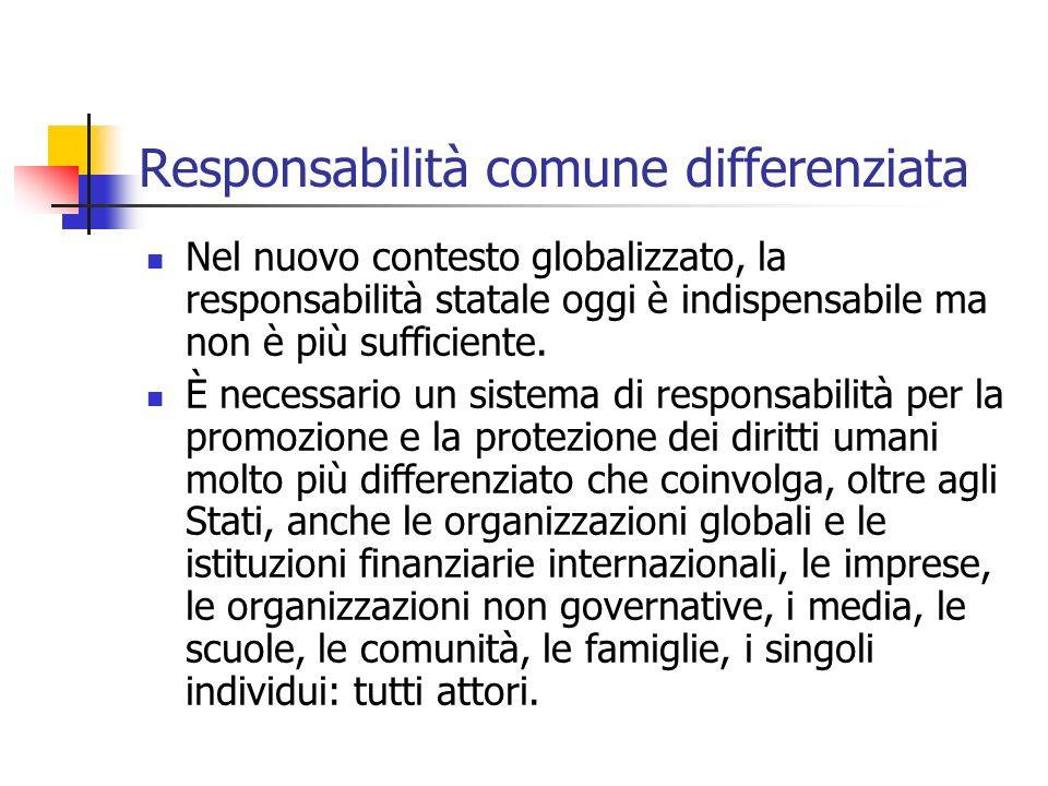 Responsabilità comune differenziata