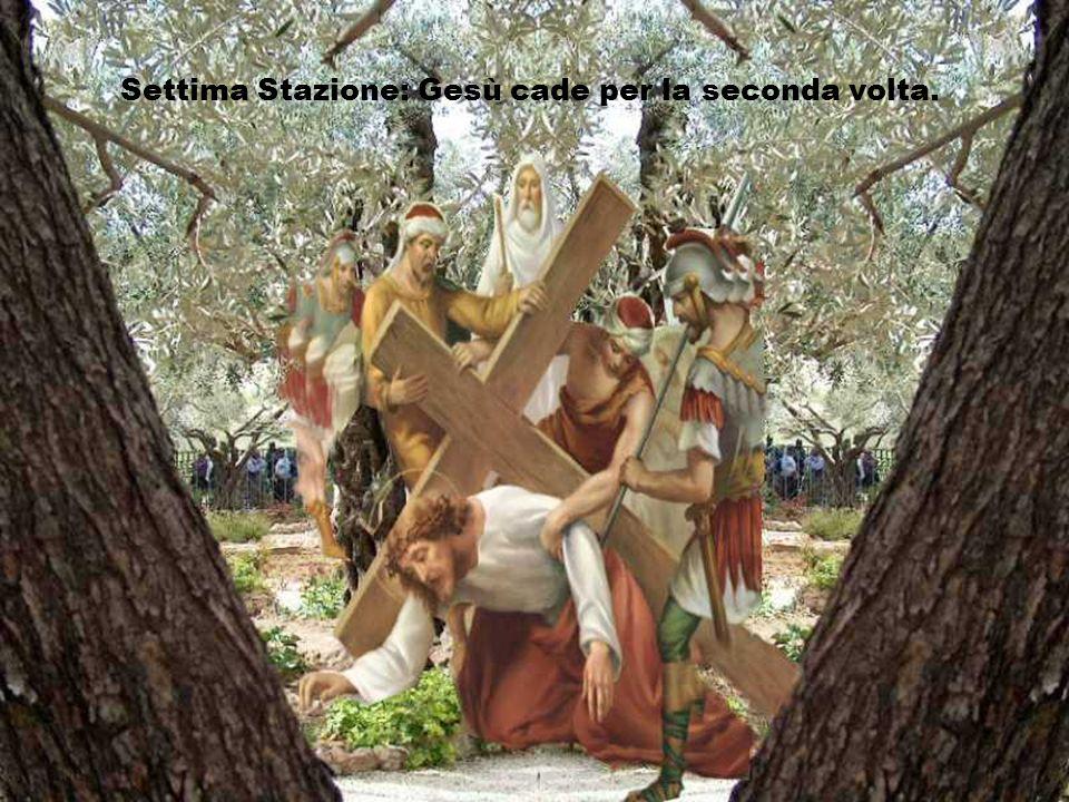 Settima Stazione: Gesù cade per la seconda volta.