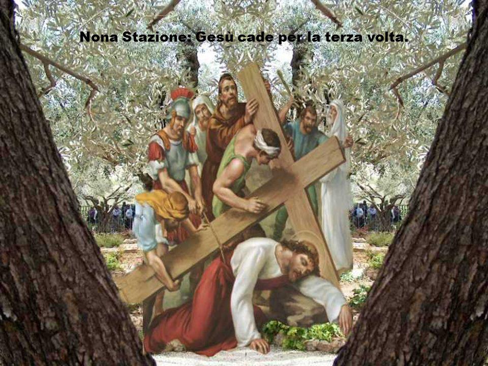 Nona Stazione: Gesù cade per la terza volta.