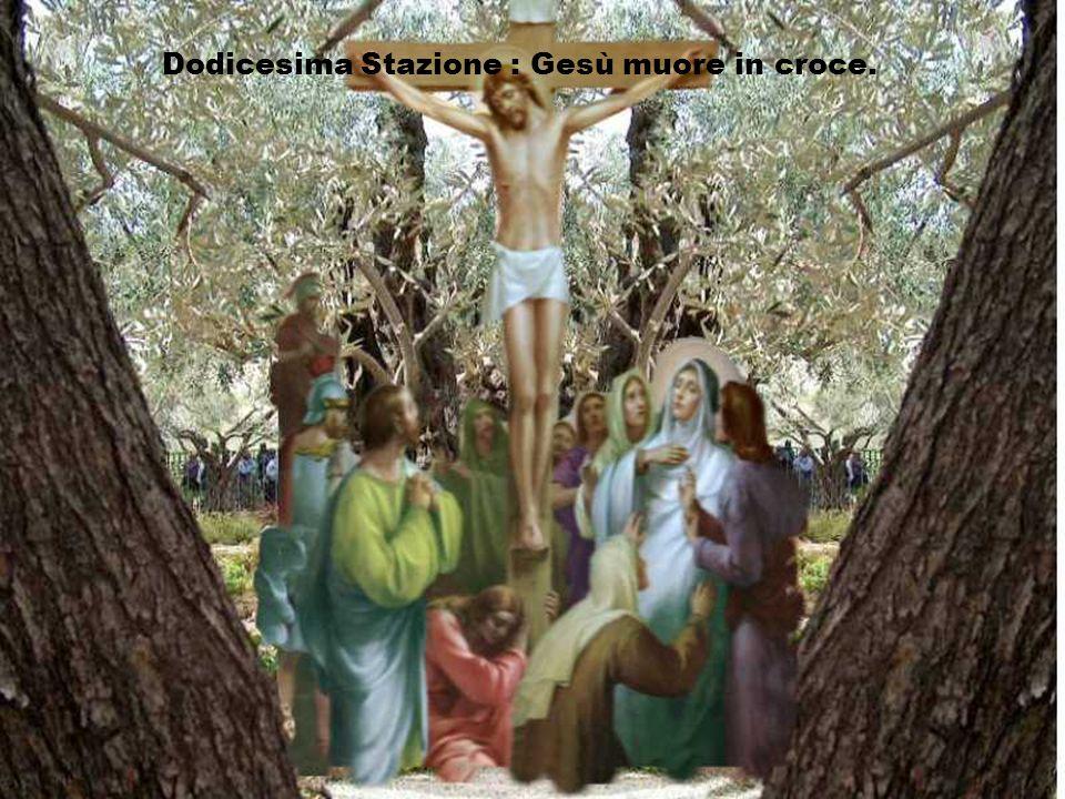 Dodicesima Stazione : Gesù muore in croce.