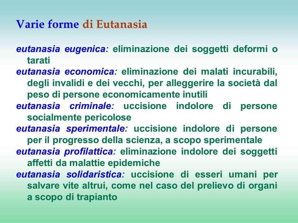 Varie forme di Eutanasia