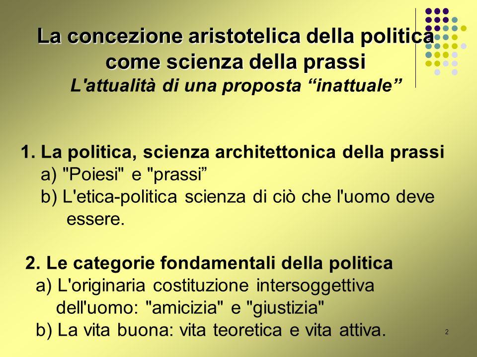 La concezione aristotelica della politica