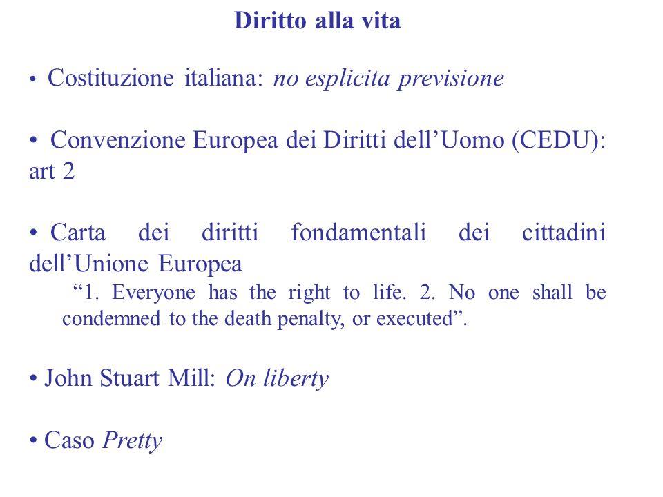 Convenzione Europea dei Diritti dell'Uomo (CEDU): art 2