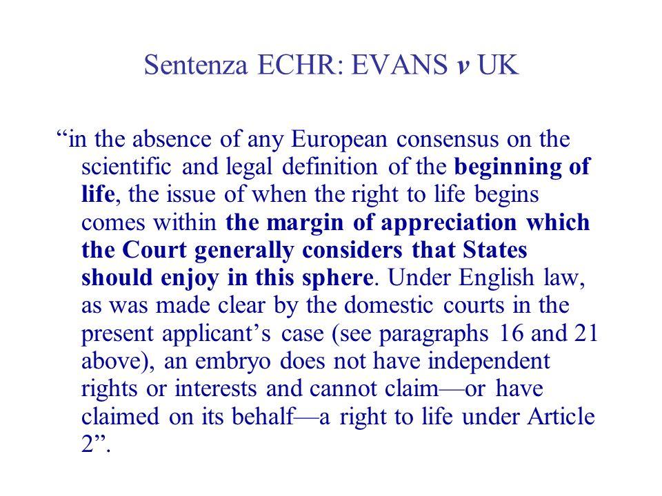 Sentenza ECHR: EVANS v UK
