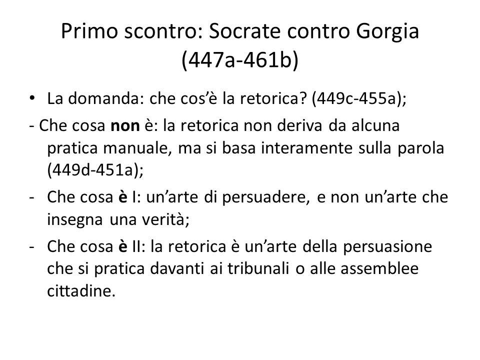 Primo scontro: Socrate contro Gorgia (447a-461b)