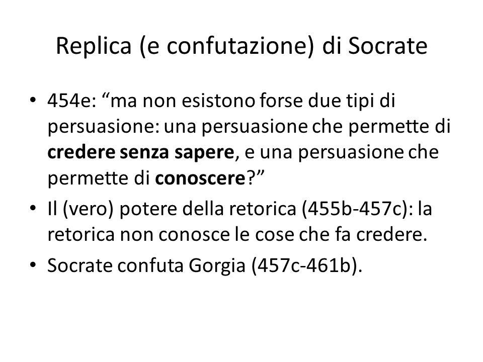 Replica (e confutazione) di Socrate