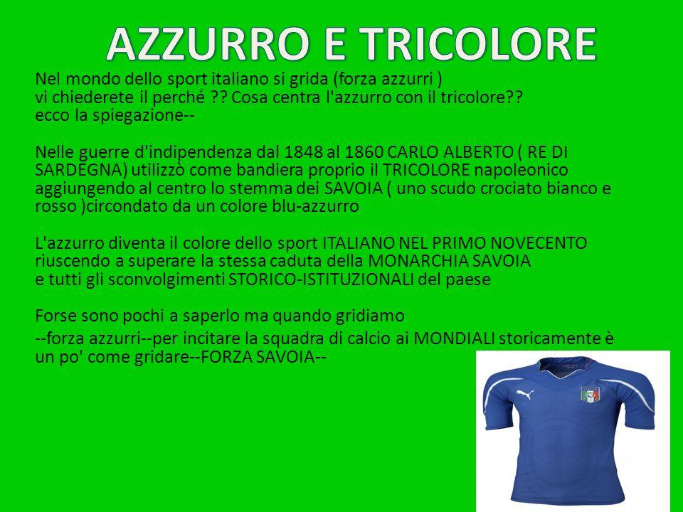AZZURRO E TRICOLORE