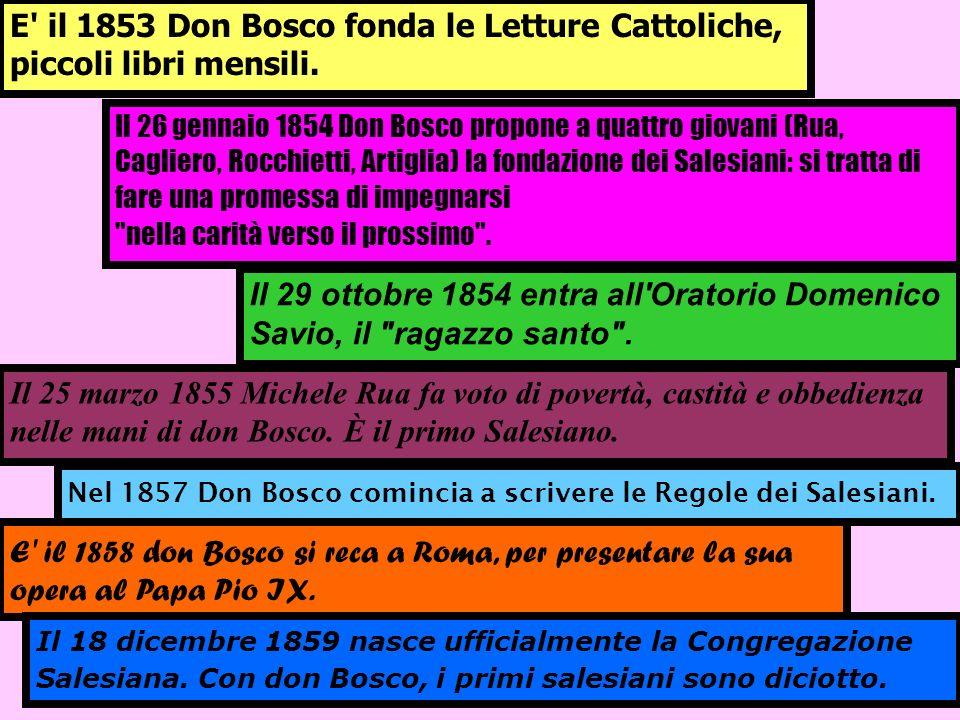 Il 25 marzo 1855 Michele Rua fa voto di povertà, castità e obbedienza