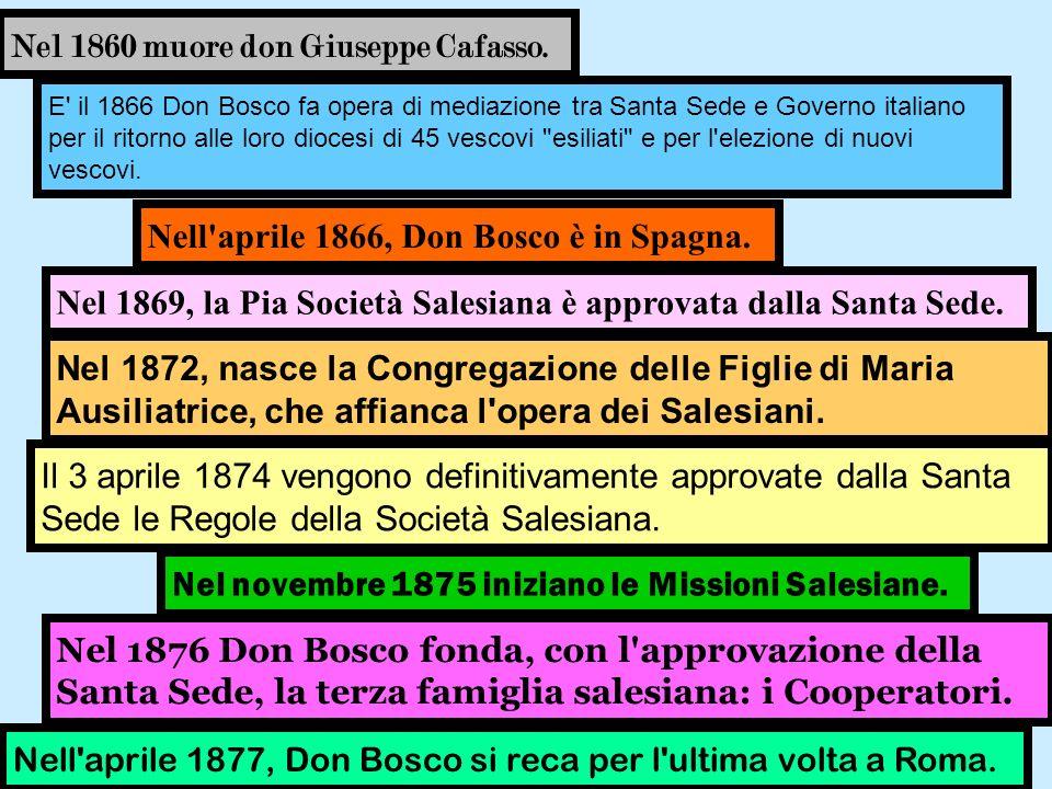 Nel 1860 muore don Giuseppe Cafasso.