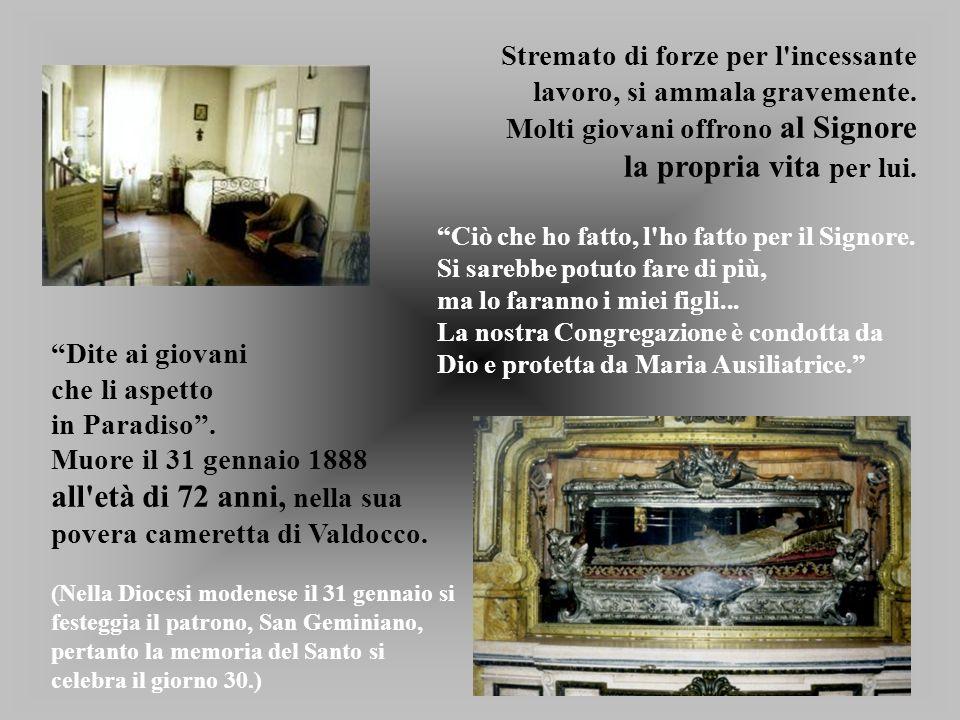 all età di 72 anni, nella sua povera cameretta di Valdocco.
