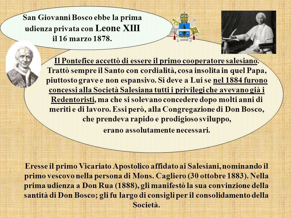 San Giovanni Bosco ebbe la prima udienza privata con Leone XIII