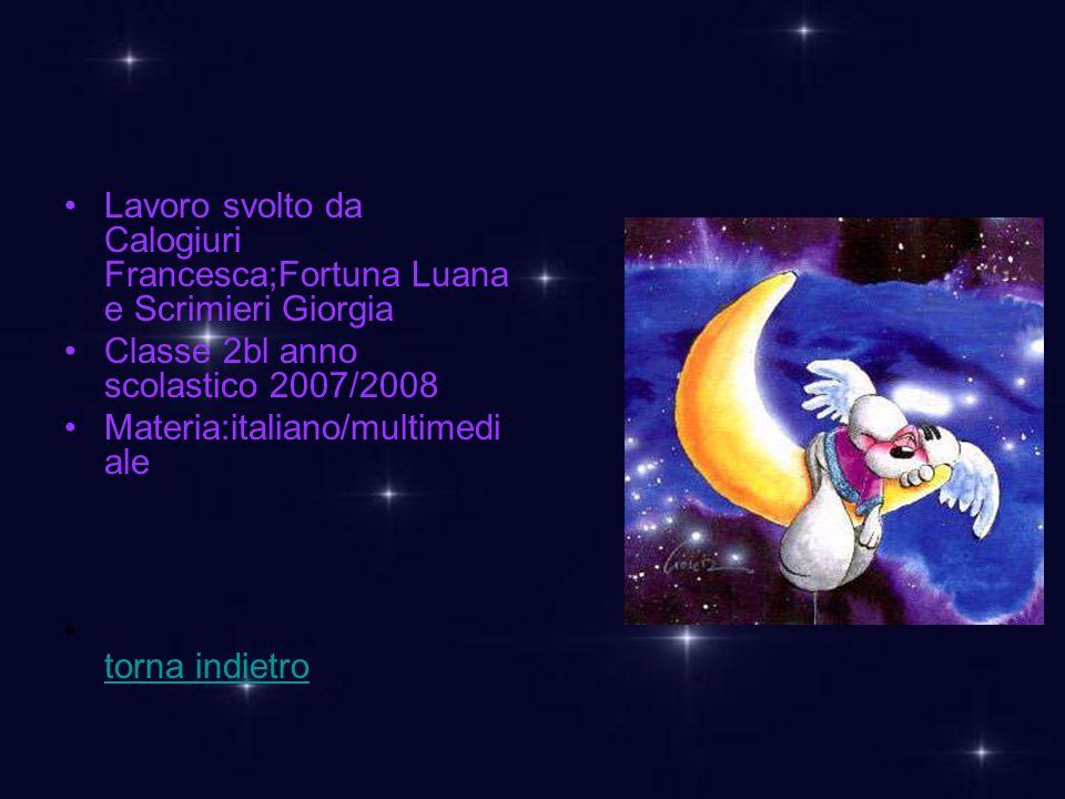 Lavoro svolto da Calogiuri Francesca;Fortuna Luana e Scrimieri Giorgia
