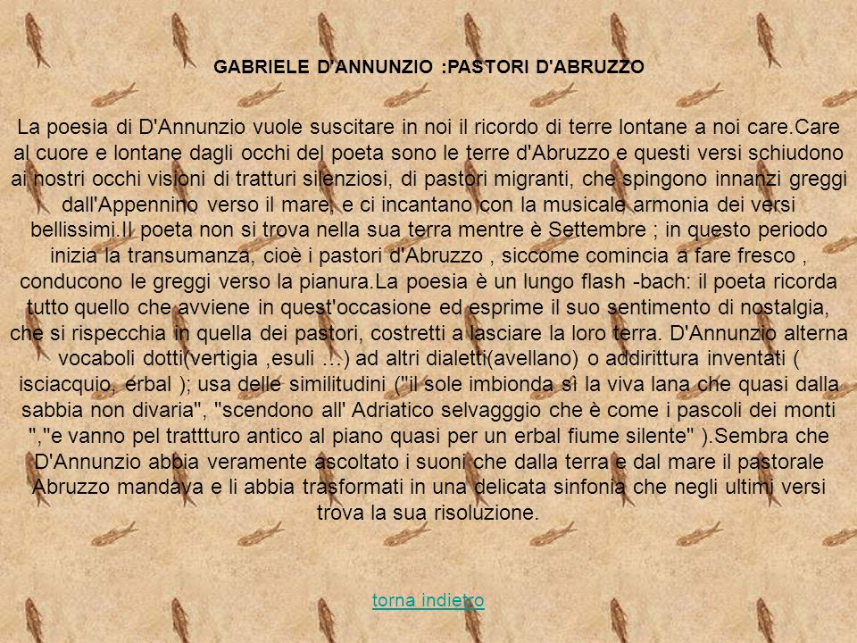 GABRIELE D ANNUNZIO :PASTORI D ABRUZZO
