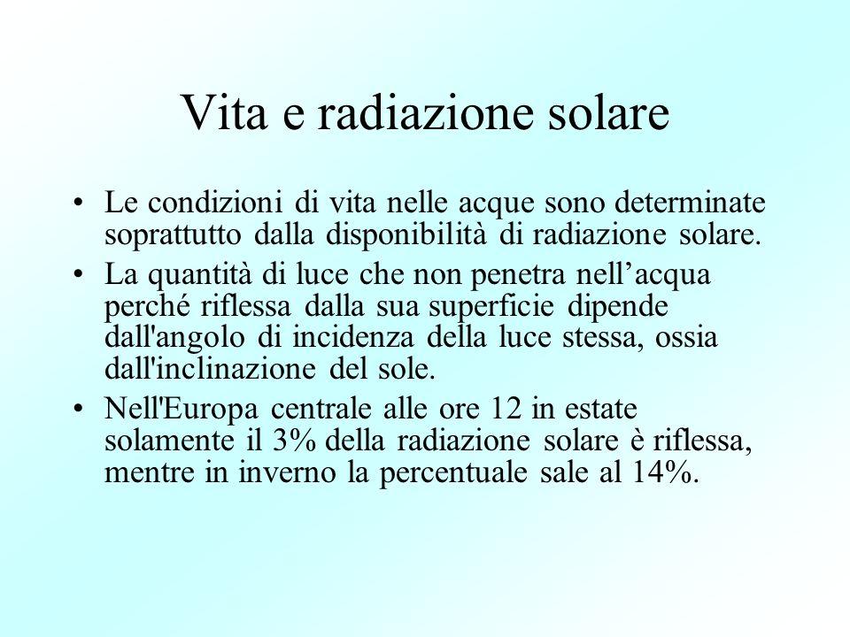 Vita e radiazione solare