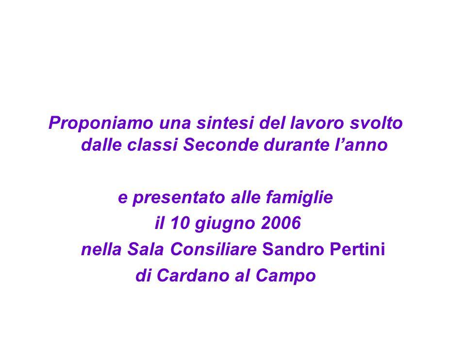 e presentato alle famiglie nella Sala Consiliare Sandro Pertini