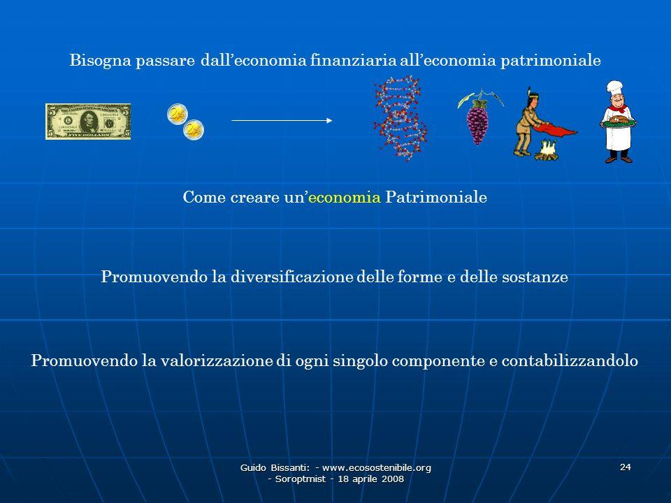 Bisogna passare dall'economia finanziaria all'economia patrimoniale