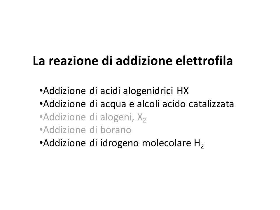La reazione di addizione elettrofila