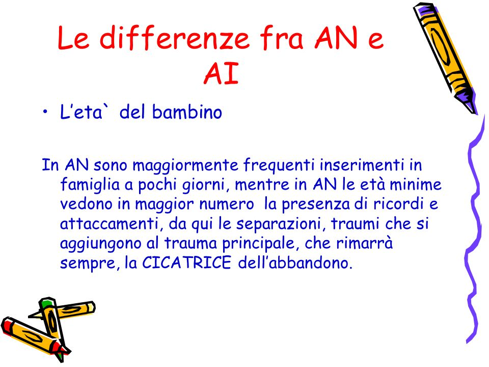 Le differenze fra AN e AI