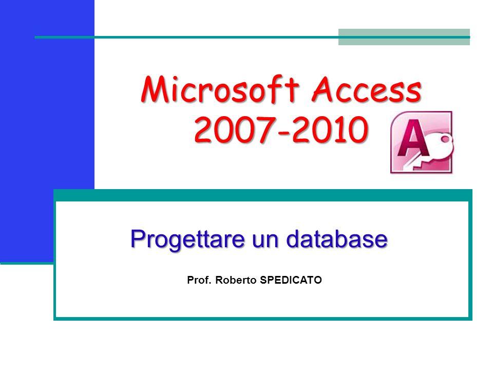 Progettare un database