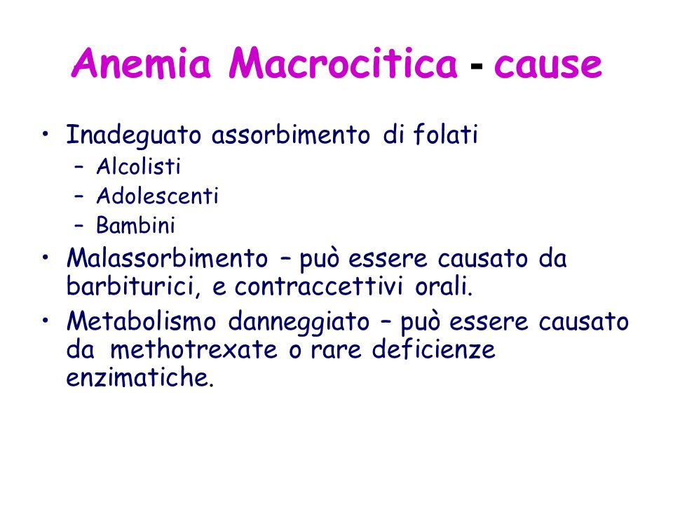Anemia Macrocitica - cause