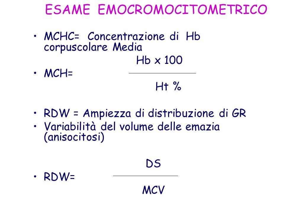 ESAME EMOCROMOCITOMETRICO