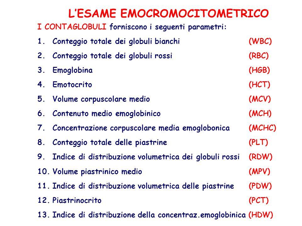 L'ESAME EMOCROMOCITOMETRICO