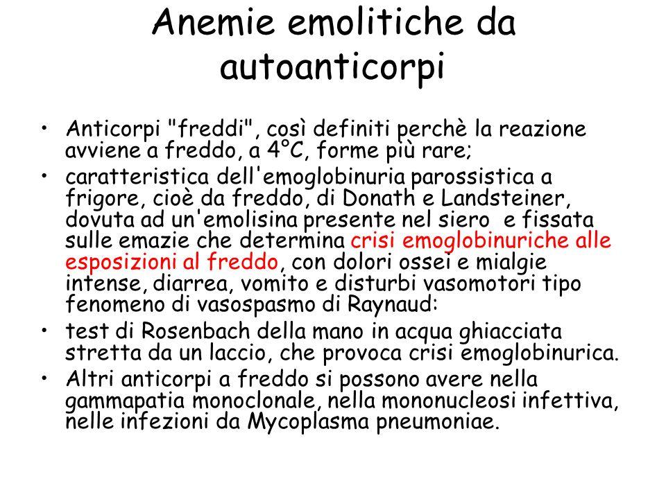 Anemie emolitiche da autoanticorpi